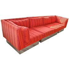 three piece sectional sofa milo baughman for thayer coggin at 1stdibs