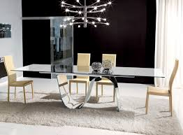 Elegant Glass Dining Tables Intended For Modern Table Room And Chairs