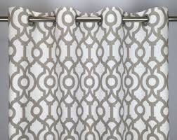 Geometric Pattern Curtains Canada by Geometric Curtains Etsy