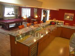 Kitchen Enchanting Small L Shaped Design With Sleek Marble Counter Top Combined Rounded Sink Also Curves Faucet In Corner Open Shelving