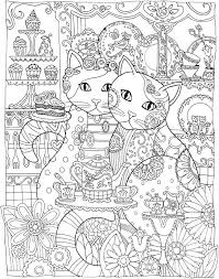 Startling Cat Coloring Book Page Creative Cats Pages
