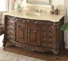 60 Inch Bathroom Vanity Single Sink Top by Adelina 60 Inch Antique Bathroom Vanity Stunning Beveled Edges