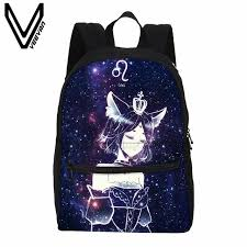 veevanv femmes sac à dos mode 12 constellations impression à dos