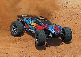 Traxxas Rustler VXL Brushless 1/10 RTR 4x4 Stadium Truck - Red ...
