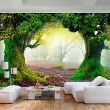 details zu vlies fototapete wald natur herbst 3d effekt tapete wandbilder wohnzimmer