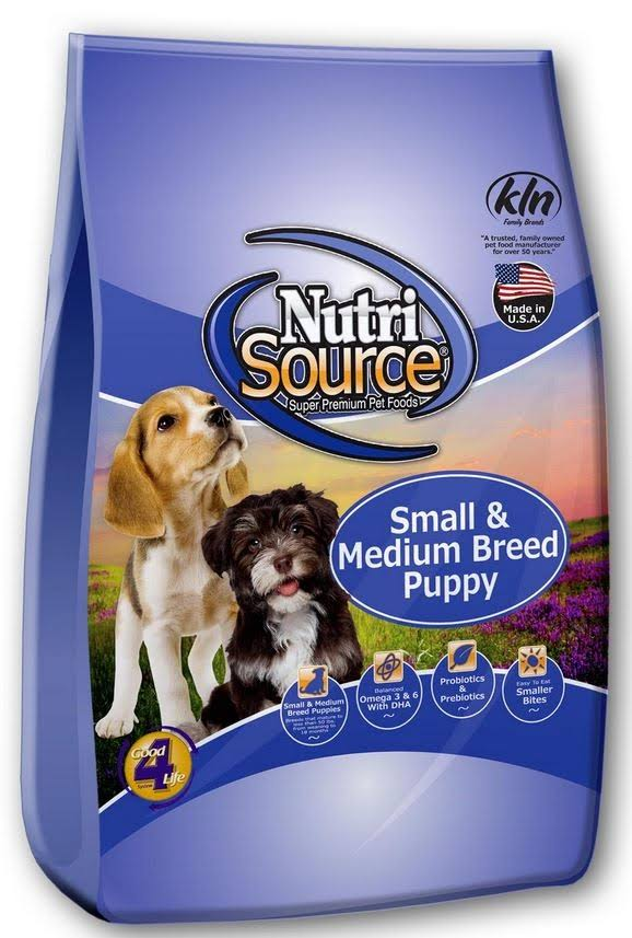 NutriSource Small & Medium Breed Puppy Food 30 lbs
