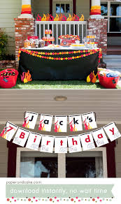 100 Fire Truck Birthday Party Printable