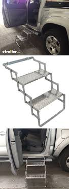 Brophy Camper Scissor Steps - 2 Steps - Aluminum - Diamond Tread ...