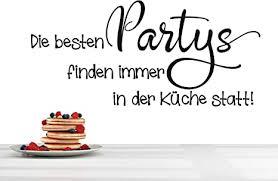 wandtattoo spruch zitat die besten partys finden immer in