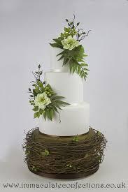 Rustic Hellebore Wedding Cake Cakes