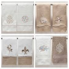 Embroidered Guest Hand Towels