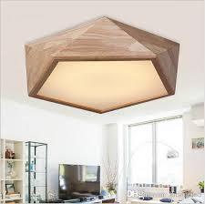 Online Cheap Oak Modern Ceiling Lights Round Wooden Led Lamp Fixtures For Dining Room Bedroom Living Deckenleuchten Abajur Chandeliers By
