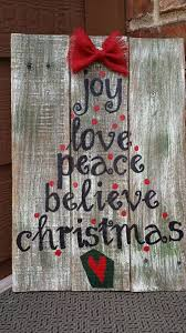 This Rustic Repurposed Pallet Wood Christmas Sign Is Made Out Of And Hand Painted It Also Adorned With A Burlap Bow