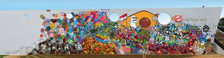 now jakarta street artists create largest mural in jakarta
