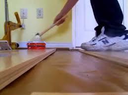 Flooring Nailer Vs Stapler by Easy Hardwood Floor Installation Using Manual Nailer Youtube
