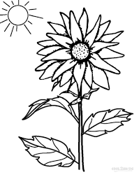 Printable Sunflower Coloring Pages For Kids Simple Drawing At GetDrawings