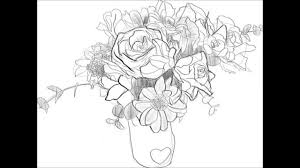 How To Draw A Bouquet Easy Drawings