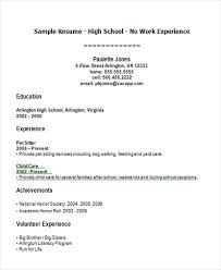 High School Student First Job Resume