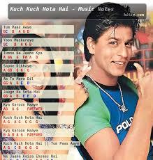 kuch kuch hota hai title song piano notations piano