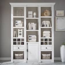 wohnzimmer bücherregal wingst 61 im landhaus stil dekor pinie weiß nb inkl beleuchtung b h t ca 147x207x45cm