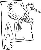 Alabama State Bird Coloring Page