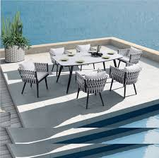 Factory Price Hot Selling Royal Hotel Rope Dining Set Patio Furniture  Balcony Dining Table And Chair Garden Outdoor Furniture - Buy Outdoor ... Alfresco Sintra 1100 Round Teak Ding Table Orient Express Costa Chair Taupe White Rope Grey Wood Height Lad Classic Bedroo Side Fniture Chairs Ellie 5pc Outdoor Setting Amazoncom Solid Retro Cowhide Garden Page 2 Of 12 Glasswells Peacock By Caline Wgu Design Danish Mid Century Frem Rojle And Set 4 Large Pine With Twist Legs Midcentury Swedish Modern Svegards Mkaryd Weave Luxury Organic Hand Woven