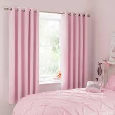 Mia Pink Blackout Eyelet Curtains