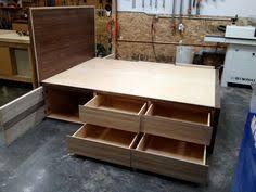 platform bed with storage tutorial diy platform bed platform
