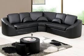 canape d angle noir et blanc 5 canap233 dangle en cuir italien