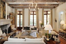 Rustic Living Room Furniture Mediterranean With Tall Windows Glass Doors