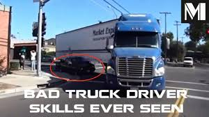 BAD Truck Driver Skills Ever Seen - ULTIMATE Semi Truck Fail On The ...