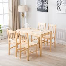 5 Pcs Pine Wood Dining Table And Chairs Dining Table Set Kitchen ... Kids Table And Chairs In Pine Woodnatural Kids 60 X 2 Kaubystorns Table 6 Chairs Antique Stain 201 Cm Ikea Rustic Seats 10 Recycled Reclaimed Wood With Natural Ikayaa Modern 5pcs Pine Wood Ding Set Kitchen Dinette Amazoncom Hcom 5 Piece Solid High Back Pcs Wunderbar Sheesham 8 Round Grey Side Silk Decor Elegant Bench For Inspiring Bedroom Fniture 4 White Natural Sold Annika Bistro Two Noa Nani Signature Design By Ashley Grindleburg 7 Rectangular 4d Concepts Urban Loft 3piece Breakfast