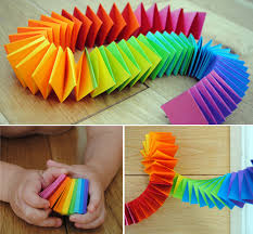 MollyMooCrafts Folded Paper Snake Or Garland