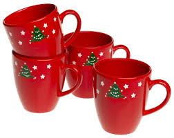 Spode Christmas Tree Mug Cafe Shape by Waechtersbach Christmas Tree Jumbo Caffe Latte Mugs Set Of 4