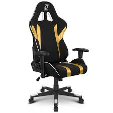 ZQRacing Gamer Series Gaming Office Chair-Gold/Black - ZQRacing Tone High Back Ergonomic Office Chair Office Chairs And Ergonomic Computer Staples Puula Officemate Homall Gaming Chair Racing High Back Leather Desk Adjustable Swivel Manage With Headrest Lumbar Support Black Sl4000 Blackcarbon Edition Gamestop Dania Fniture Humanscale Solutions Markus Chair Glose Black Robust Ea117 Eames Household Seat Covers Pu Executive