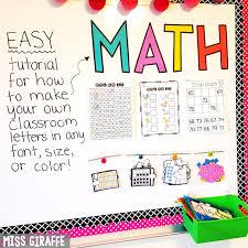 Miss Giraffe s Class DIY Classroom Decor Bulletin Board Letters