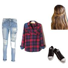 A Fashion Look From November 2014 Featuring Purple Top Blue Jeans And Canvas Shoes