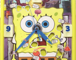 Spongebob Operation Game Battery Operated Clock Room Re Purposed