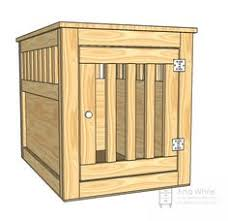 large wood pet kennel end table plans for under 40 thinking