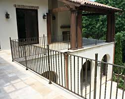 Unique Iron Staircase Porch Railing For Creative Outdoor Home Design