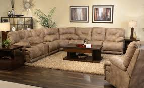 Brown Couch Living Room Decorating Ideas by Popular Cheap Sectional Sofas With Recliners 72 With Additional