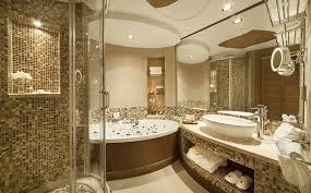 Brown Mosaic Bathroom Mirror by Bathroom Luxury Bathroom Design With Large Wall Mirror And