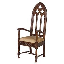 Design Toscano Viollet Armchair | Wayfair Gothic Revival Oak Glastonbury Chair Sale Number 2663b Lot Antique Carved Walnut Throne Arm Bucks County Estate Truly Stunning Medieval Italian Stylethrone Scissor X Large Victorian A Pair Of Adjustable Recling Oak Library Chairs Wick Tracery Cathedral My Parlor Room Purple Reproduction Shop Pair Jacobean Style Armchairs In Streatham Charcoal Gray Painted Rocking By Just The Woods Wicker Seat Side At