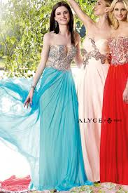alyce paris prom dress style 6340 front view turquoise prom