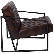 100 Reception Room Chairs Brown Bomber Jacket Leather Chair ZB8522BJGG RestaurantFurniture4Lesscom