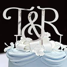 Initial Cake Toppers Letter Cake Topper Sincerity Weddings