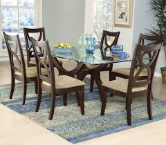Modern Glass Dining Room Extendable Top Awesome Table Set