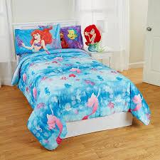 little mermaid twin full bed comforter flower swirls blanket