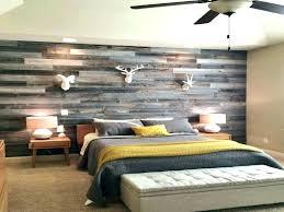Wood Accent Wall Bedroom Gray Plank Vinyl