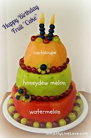 Carved Watermelon Cake Happy Birthday Fruit cake OMG can you imagine if we gave